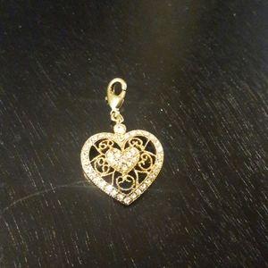 Vintage Monet heart pendant/charm